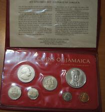 Jamaica Serie di 7 Valori 1971 Elisabetta II in Box Fdc