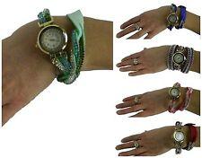 Markenlose Armbanduhren aus Kunstleder mit 12-Stunden-Zifferblatt