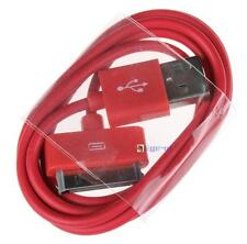 USB Data Sync Charger Cable For Apple iPhone 4 4S 3G iPad 3 2 iPod Touch red BA