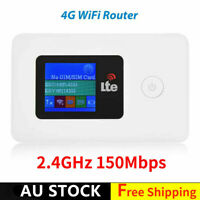 Unlocked 4G-LTE Mobile Broadband 150Mbps WiFi Wireless Router Hotspot AU