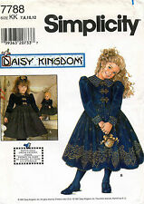 Simplicity Daisy Kingdom Child's Dress and Doll Dress Pattern 7788 7-12