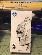 Jim Lee Batman Original Sketch CGC