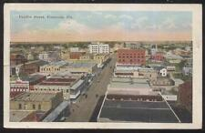 Postcard PENSACOLA Florida/FL  Fairfax St Commercial Area Aerial view 1910's