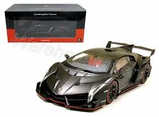 KYOSHO 1:18 LAMBORGHINI VENENO MATT BLACK RED SEATS Diecast Car Model C09501