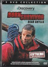 BEAR GRYLLS BORN SURVIVOR EXTREME WILDERNESS R2 DVD BOXSET 3-DISC NEW/SEALED