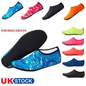 Kids Water Shoes Mens Womens Quick Dry Aqua Socks Beach Swim Non Slip Wetsuit UK