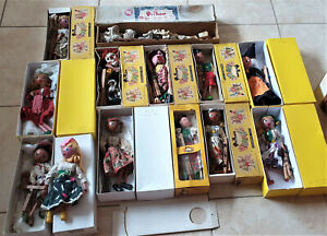 Interesting Job Lot of 13 Vintage Pelham Puppet Some Boxed Sold As Seen
