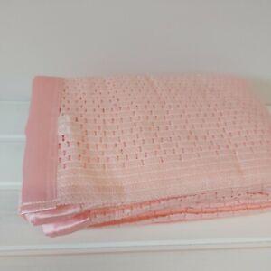 Cellular Acrylic Blanket Pink Single Satin Trim