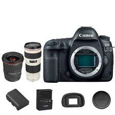 Canon EOS 5D Mark IV DSLR Camera Body + EF 17-40mm f/4L USM Lens + 70-200mm f/4L