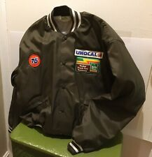 RARE Vintage Unocal Union 76 Kelly Tires Bomber Ringer Jacket  Men's Large HTF