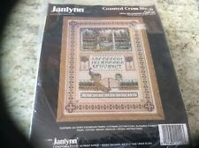 Janlynn english garden sampler with beads cross stitch kit
