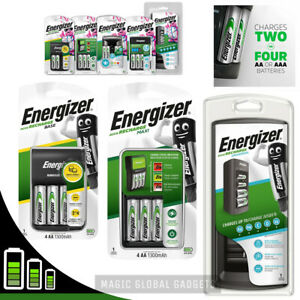 ENERGIZER BATTERY CHARGER + Rechargeable Batteries AA AAA C D 9V  Pre-Charged