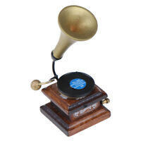 1:12 Dollhouse Miniature Retro Phonograph Record Mini Furniture Accessories YK