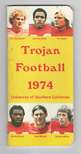1974--USC TROJANS--NATL. CHAMPS--A. DAVIS, HADEN,McKAY--FOOTBALL MEDIA GUIDE-NMT