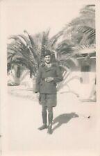 Photo-carte portrait homme militaire gendarme colonial Algérie uniforme bottes