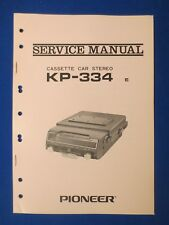Pioneer KP-334 Cassette Service Manual Factory Original The Real Thing