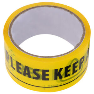1Pc Warning Tape Yellow Well-marked 2 Meters Adhesive Tape Safety Distance Tape