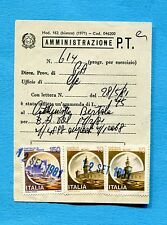 CASTELLI - 1981 £.10 x 2 + £.150 su MODELLO per AMMENDE a PERSONALE PT (700061)
