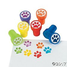 6 Paw Print Animal Puppy Dog Cat Self Ink Stampers Stamps Birthday Party Favors