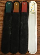 "7 1/2"" Glass Nail File: Crystals/Aqua, Crystals/Peach, Flowers color Choices"