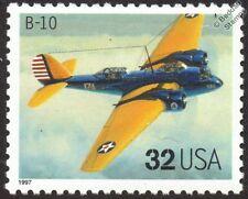 USAAC MARTIN B-10 WWII Bomber Aircraft Stamp (1997 USA)