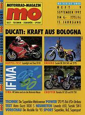 mo 9/92 1992 Laverda 650 Moto Guzzi 1000 S Over Ducati OV 10 Suzuki DR 350 SHC