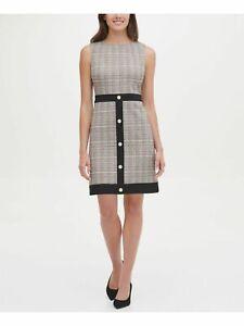 Women's Tommy Hilfiger Ivory/Black Sleeveless Sheath Dress 6 NEW $129