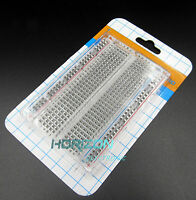 10pcs Mini Solderless Breadboard Transparent Material 400 Points Available DIY