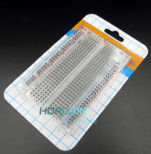 10pcs Mini Solderless Breadboard Transparent Material 400 Points Available DIY