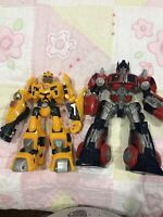Transformers Optimus Prime And Bumble Bee Action Figure Lot