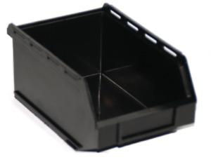 PB17-ECO Medium Black Recycled Plastic Storage Bin Pack of 10
