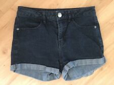 Ladies TARGET Denim Shorts Size 8 Black Short High Waist Roll Up