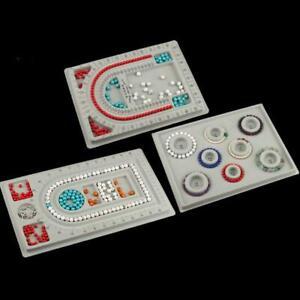 4Pcs Gray Flock Beads Tray Design Boards Kit  DIY Beading Bracelet Jewelry Tools