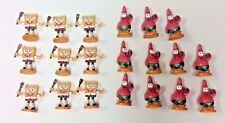 Spongebob and Patrick Mini Figurines 20 Pieces 1 1/2 Inch On Stands 2007
