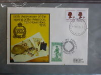 1978 NEW ZEALAND 60th ANNIV SIGNING OF ARMISTICE 1918 MILITARY SOUVENIR COVER