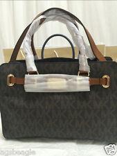Michael Kors Bag 35F0GHMT3 MK Hamilton Sig Medium EW Leather Satchel & SHOES 8.5
