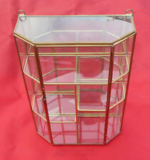New Glass Curio Collectibles Display Cabinet Case with Offset shelves.