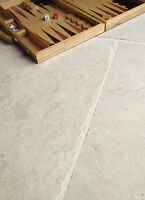 Cathedral Cream tumbled limestone floor tiles and flooring