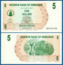 SIMBABWE / ZIMBABWE 5 Dollars 2006  UNC  P. 38