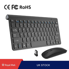 Ultra Slim Thin Wireless Keyboard and Mouse Combo 2.4GHz Kit for Desktop PC
