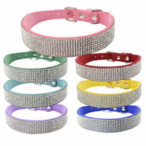 Bling Rhinestone Small Pet Dog Collars Puppy Kitten Diamond Collar Necklace New