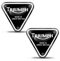 2 Resinati 3D Adesivi Triumph UK GB Racing Speed Triple Logo Sponsor Moto Auto