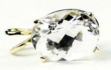 Silver Topaz, 14KY Gold Pendant, P006