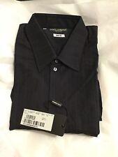 NEW Dolce & Gabbana Men's Black Stripe Martini Dress Shirt - 16.5/42