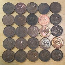 Vintage Canada Small Cents, lot of 50 (Lot 78)