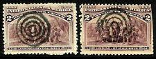 """Sc #231 """"2 Targets"""" Fancy Cancel SON Columbian 2 Cent 1893 US 51C63"""