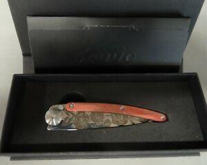 Couteau pliant Deejo Collection Tattoos Wood colors - 27 G - En acier inoxydable