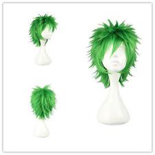 "Cosplay Wig Party Wig Synthetic Short Hair 32cm/12.6"" for Kosuke Ueki Green Hair"