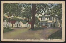 Postcard MEMPHIS Tennessee/TN  Leahy's Tourist Motel Motor Court view 1940's