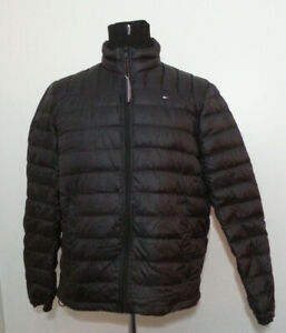Tommy Hilfiger Men Puffer Down Black Packable Jacket SIze M